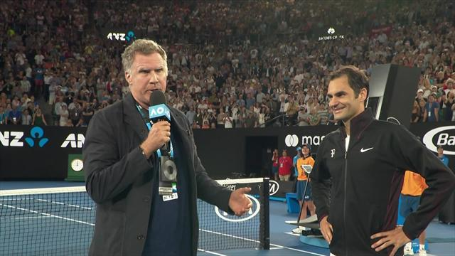 When Will Ferrell met Roger Federer… the funniest tennis moment of 2018?