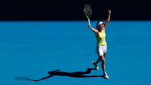 """Au bord du gouffre, Wozniacki a signé une improbable """"remontada"""""""