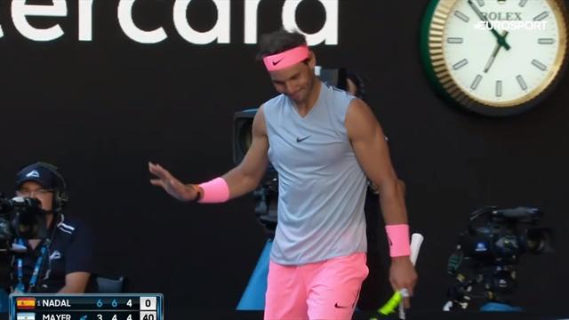 En plus de celui de Mayer, Nadal a failli s'offrir le scalp d'une ramasseuse de balle