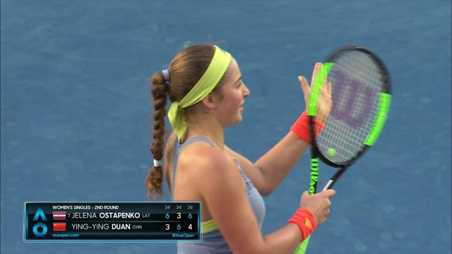 Highlights: Ostapenko wins in three sets