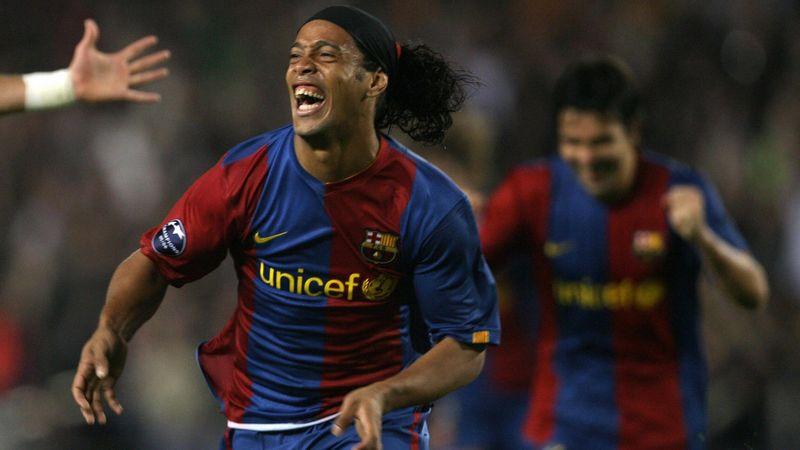Ronaldinho avec le FC Barcelone