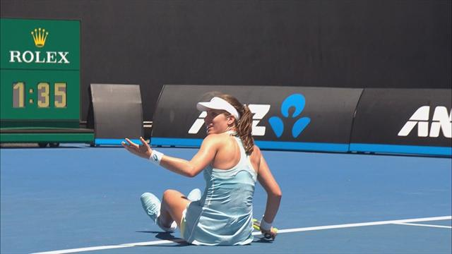 'Very odd!' Does 'huge gust of wind' cause Konta fall?