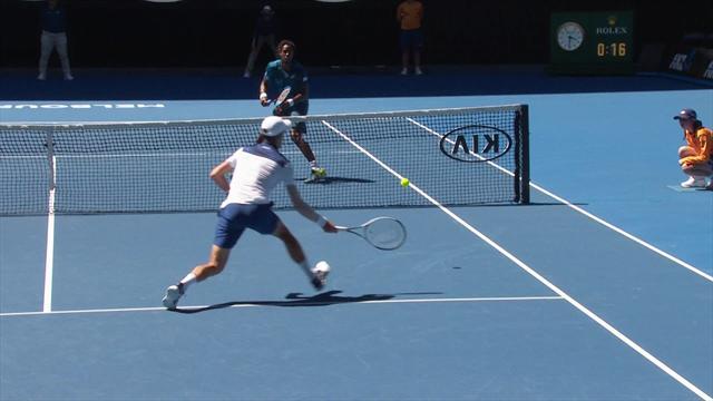 Open Australia 2018: Espectacular dejada de Novak Djokovic