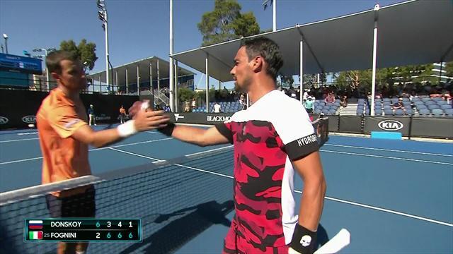 Australian Open: Fabio Fognini-Evgeny Donskoy, gli highlights