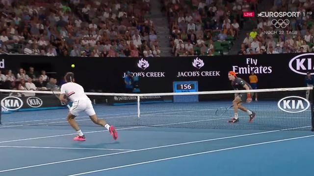 23 Schläge zum Zungeschnalzen: Federer und Struff mit Wahnsinns-Ballwechsel