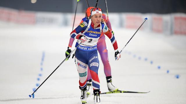 Eckhoff keeps winning run going in Antholz-Anterselva sprint