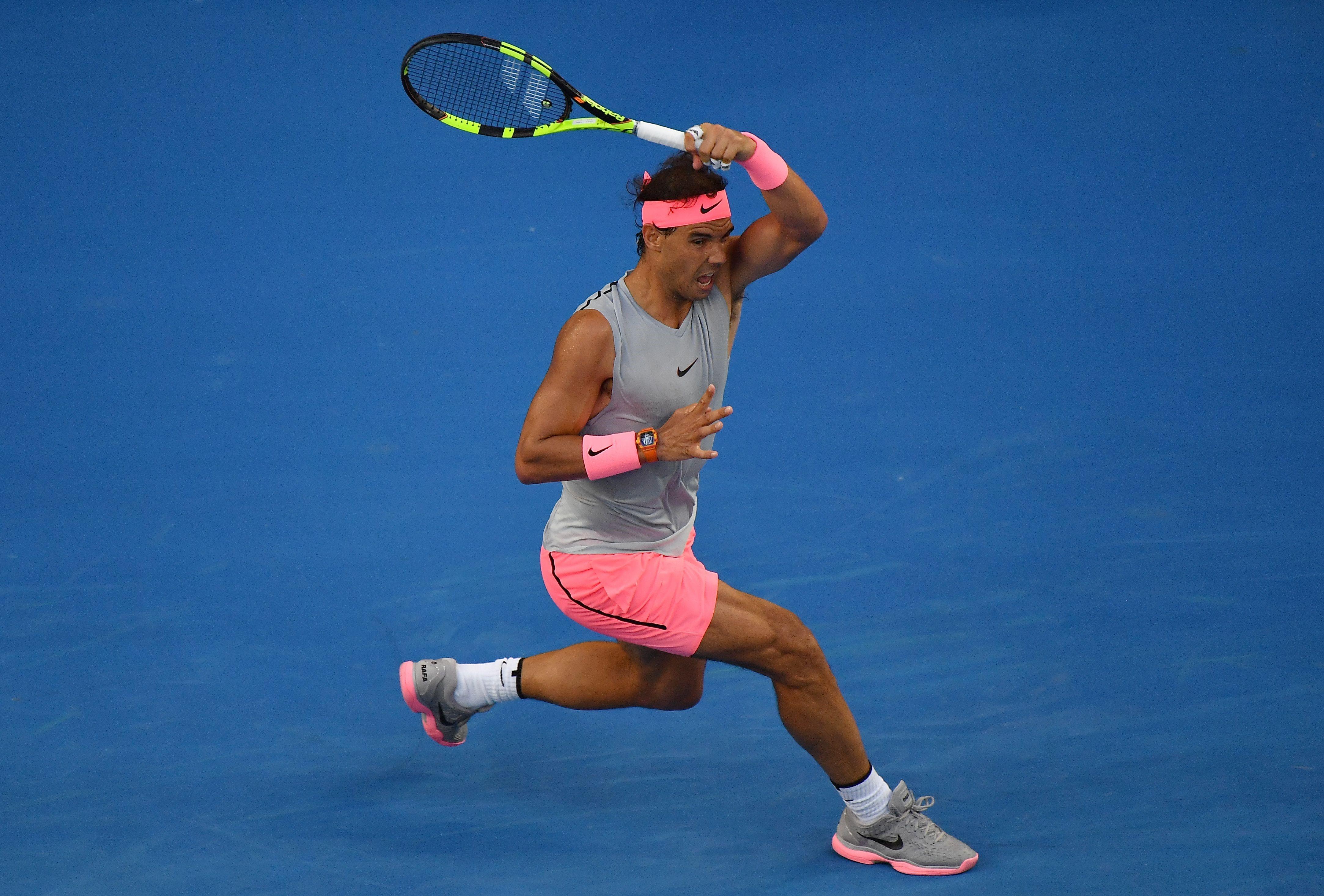 Rafael Nadal lors de l'Open d'Australie 2018