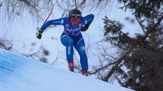 Cortina d'Ampezzo: Goggia triunfa ante Vonn y Shiffrin en el descenso
