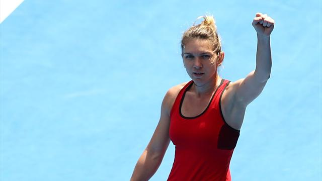 Halep tops Davis after nearly four gruelling hours