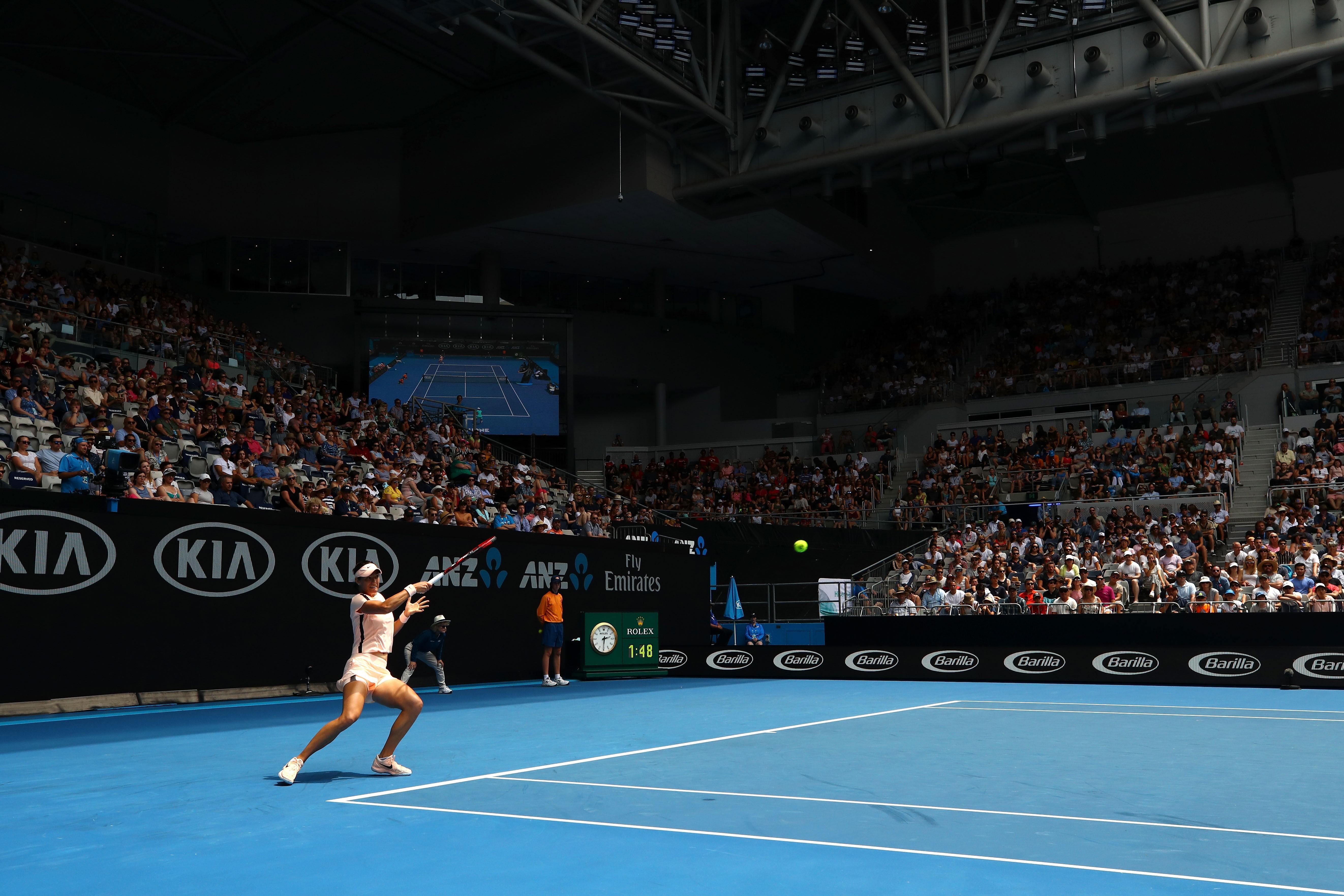 Caroline Garcia lors de l'Open d'Australie 2018