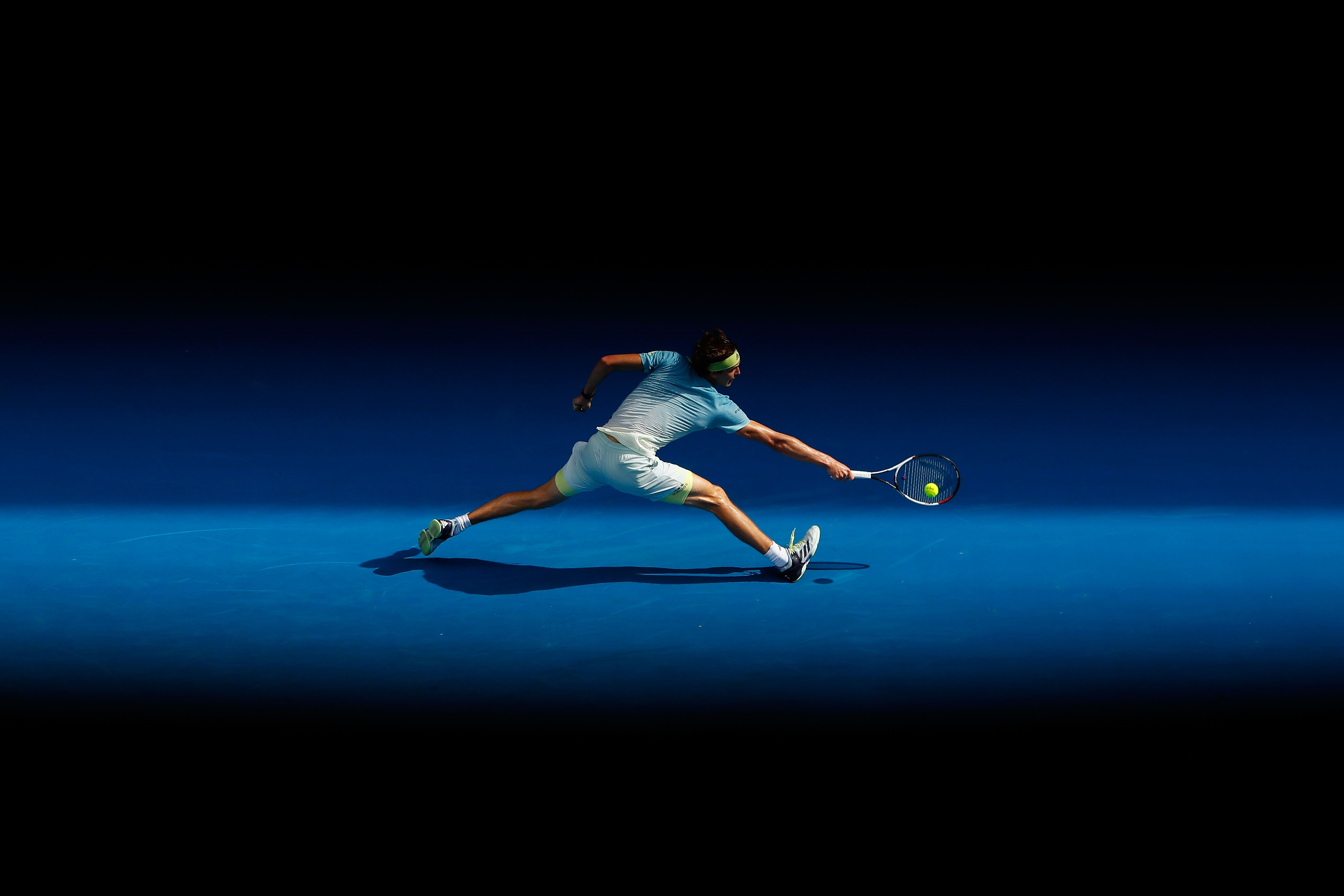 Alexander Zverev lors de l'Open d'Australie 2018