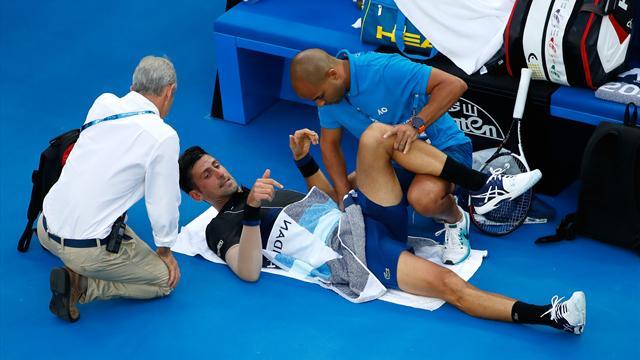 Open Australia 2018: Los problemas físicos de Djokovic que le obligaron a pedir un tiempo médico