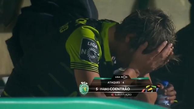 Le gros craquage de Coentrao, en larmes, sur le banc du Sporting