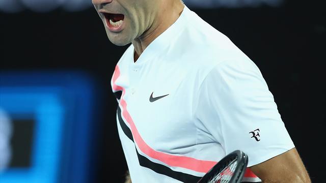 Open Australia 2018: El forzado y precioso revés de Federer para cerrar la victoria ante Gasquet