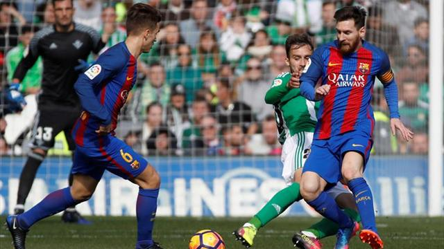 Barcelona goleó al Betis con un doblete de Leo Messi