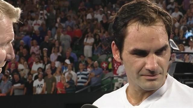 """Maestro goes Hollywood: Federer imitiert """"The Rock"""" im Siegerinterview"""