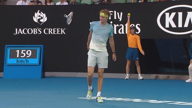 Open Australia: Zverev paga con la raqueta toda su frustración ante un sorprendente rival