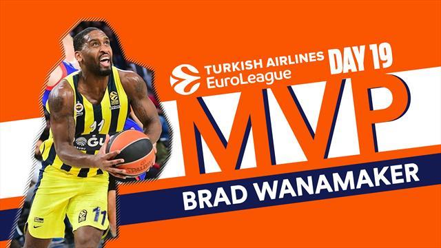 Brad Wanamaker MVP della 19a giornata di Eurolega: è il primo Mvp del Fener in stagione