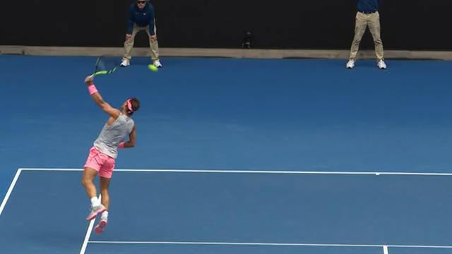 Vom Feinsten: Nadal mit grandiosem Rückhand-Volley