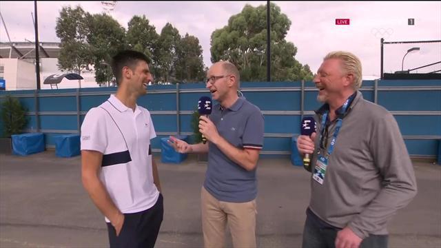 """""""Schatzilein"""" Djokovic: """"Hatte eigentlich mit Zverev gerechnet"""""""
