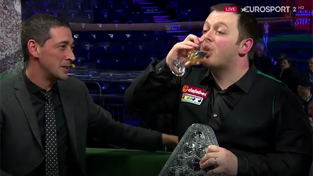 Mark Allen downs bubbly after Masters win