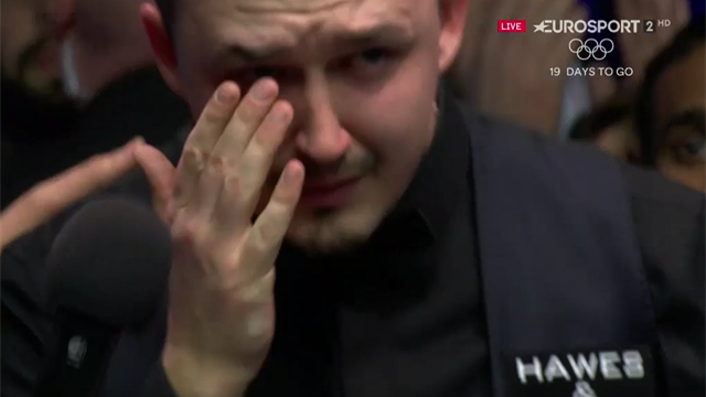 Kyren Wilson in tears after agonising Masters defeat