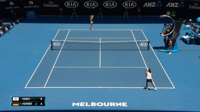 How's that for composure? Hsieh's ultra-slow smash