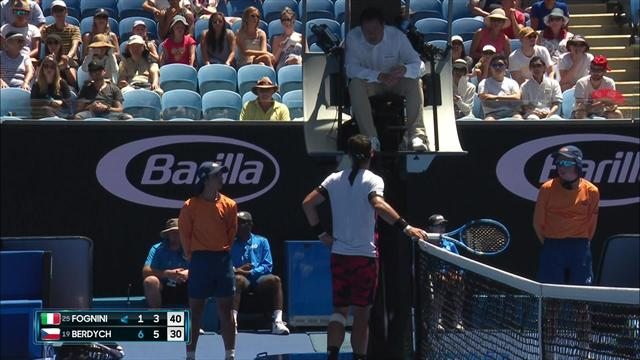 Fognini rows with umpire over disputed call