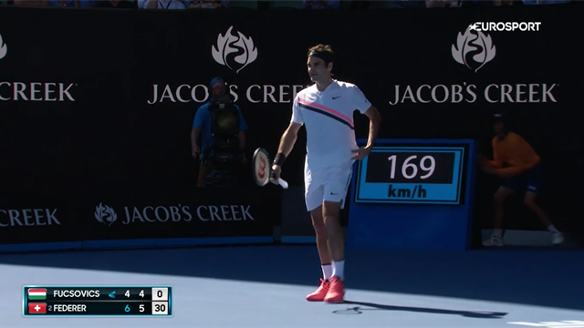 No way! Ridiculous Federer defence to fend off smashes