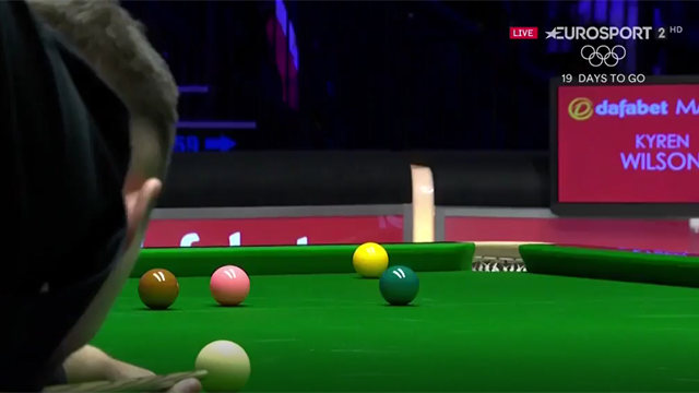 Kyren Wilson intervenes to stop disruptive fan being thrown out