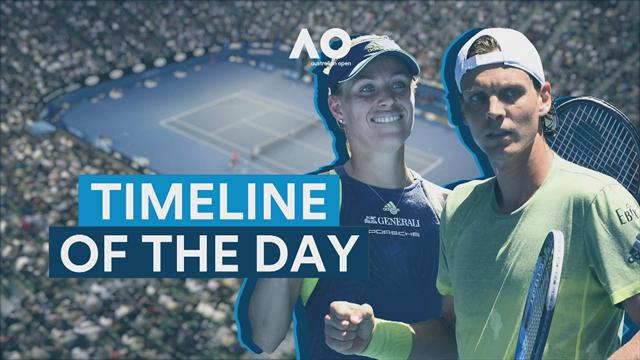 Timeline of the Day: Federer and Halep show their class