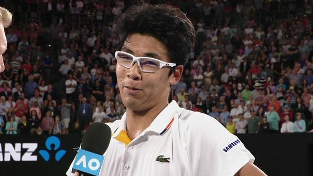 Delighted Chung: I just try to copy Novak - he's my idol