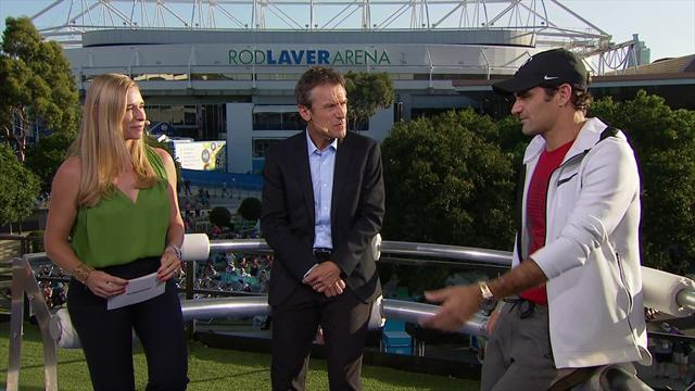Open de Australia 2018: Federer analiza su victoria en Game, Schett and Mats