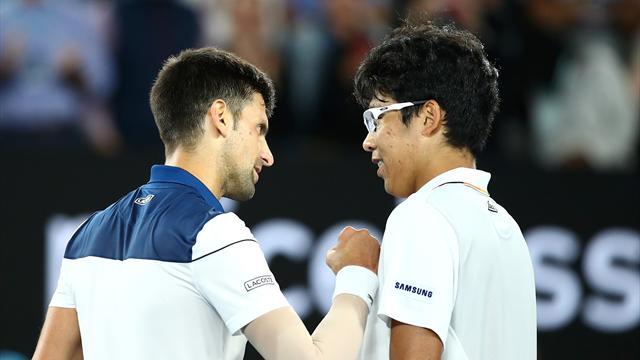 Trois sets et 3h21 : Djokovic s'est accroché, mais la magie Chung a opéré