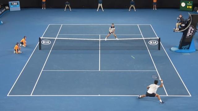 Präzision vom Allerfeinsten: So brachte Chung Djokovic zur Verzweiflung