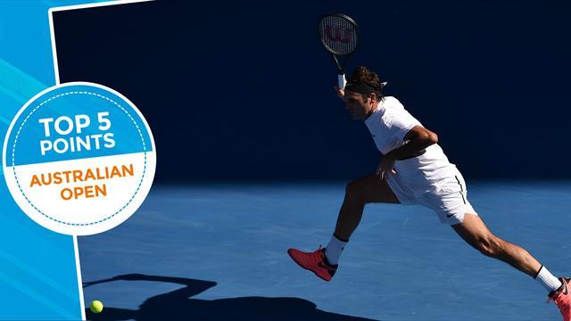 Le Top 5 de lundi : Federer est aussi un maestro en défense