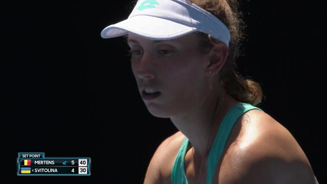 Mertens clinches first set against Svitolina