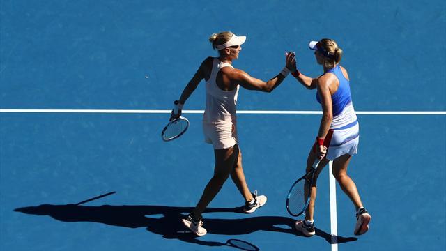Русские теннисистки стали четвертьфиналистками Australian Open впарном разряде