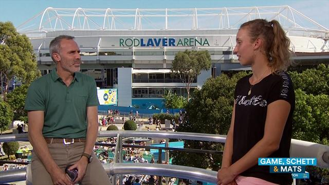 Mertens talks about her incredible run in the Australian Open and help from Clijsters
