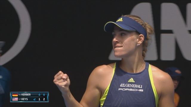 Open Australia 2018, Angelique Kerber-Madison Keys: Una barbaridad (6-1 y 6-2)