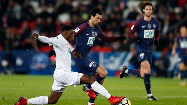 El PSG, sin Mbappé y Neymar, derriba al Guingamp (4-2) con un gran partido de Di María