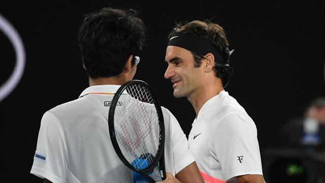 Chung'un sakatlığı, Federer'i zorlanmadan finale taşıdı