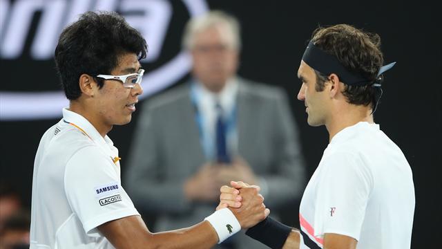 Open Australia 2018: Hyeon Chung-Roger Federer: Se acabó la rebelión (1-6, 2-5 y A)