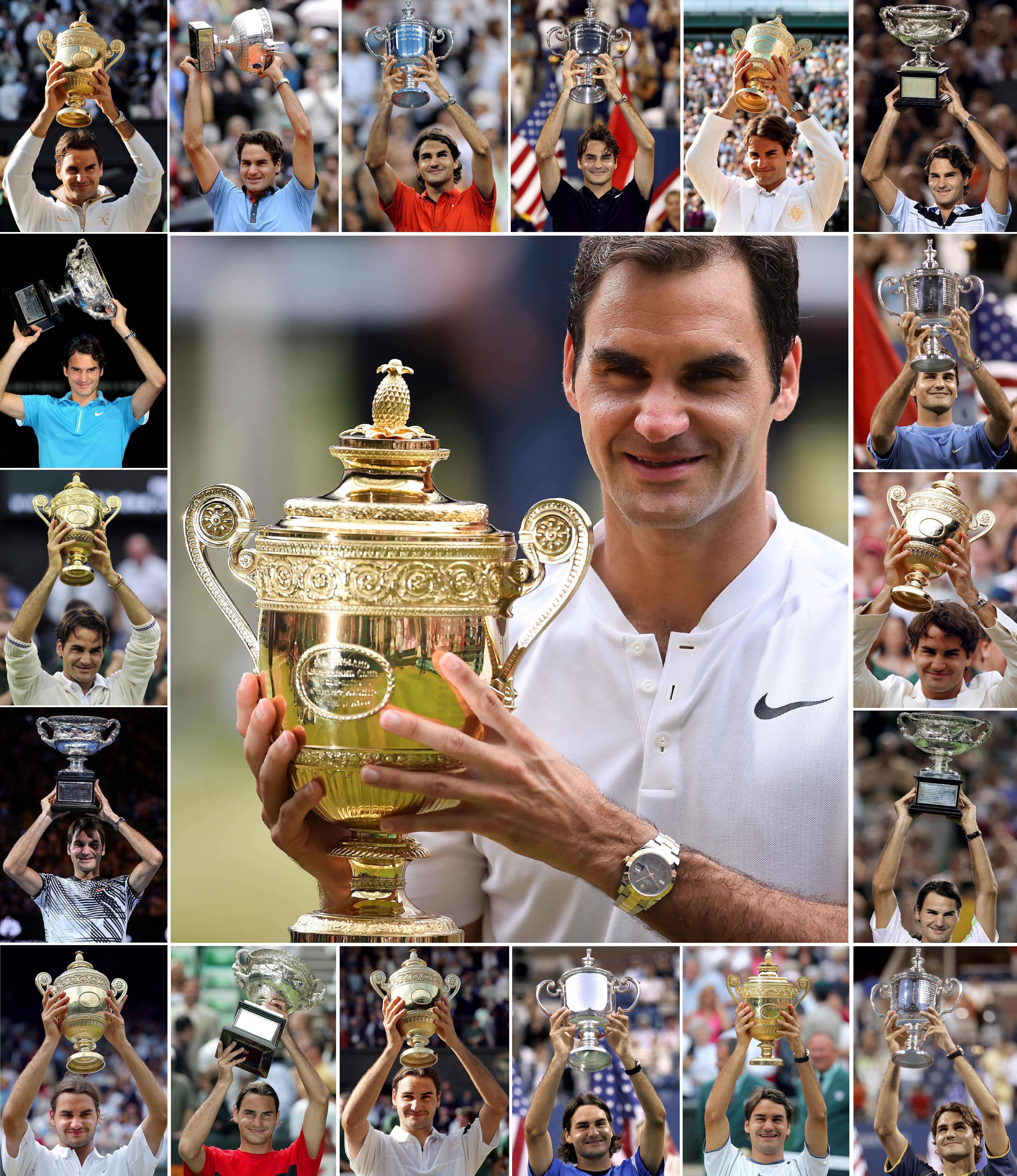 Roger Federer Grand Slam haul.