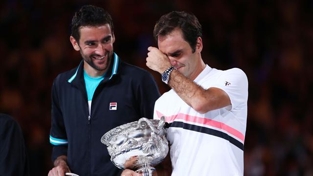 Федерер дрогнул только на речи победителя и с кубком прятал мокрые глаза
