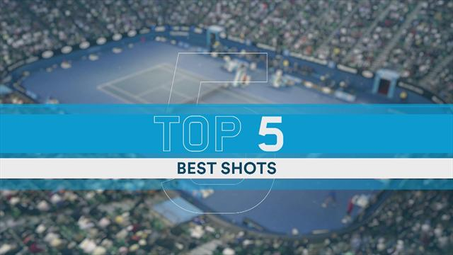 Top 5 Shots: Federer and Cilic put on Melbourne masterclass