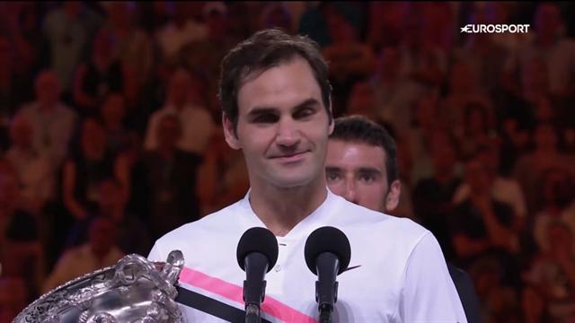 Триумфальная речь Федерера, который поблагодарил всех-всех-всех. Кажется, даже тебя