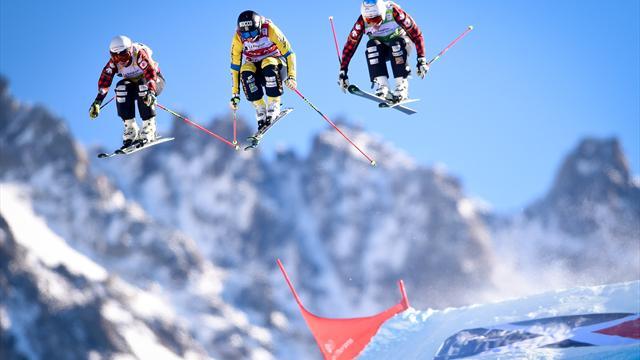 'Stille Willie' gaat als een beest tekeer op de skicross