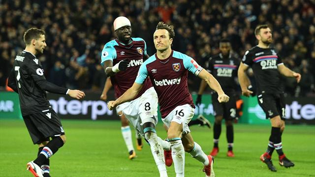 Depleted West Ham holds Crystal Palace to 1-1 draw