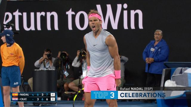 Australian Open Top 5 Celebrations: Featuring Nadal, Wozniacki and Federer